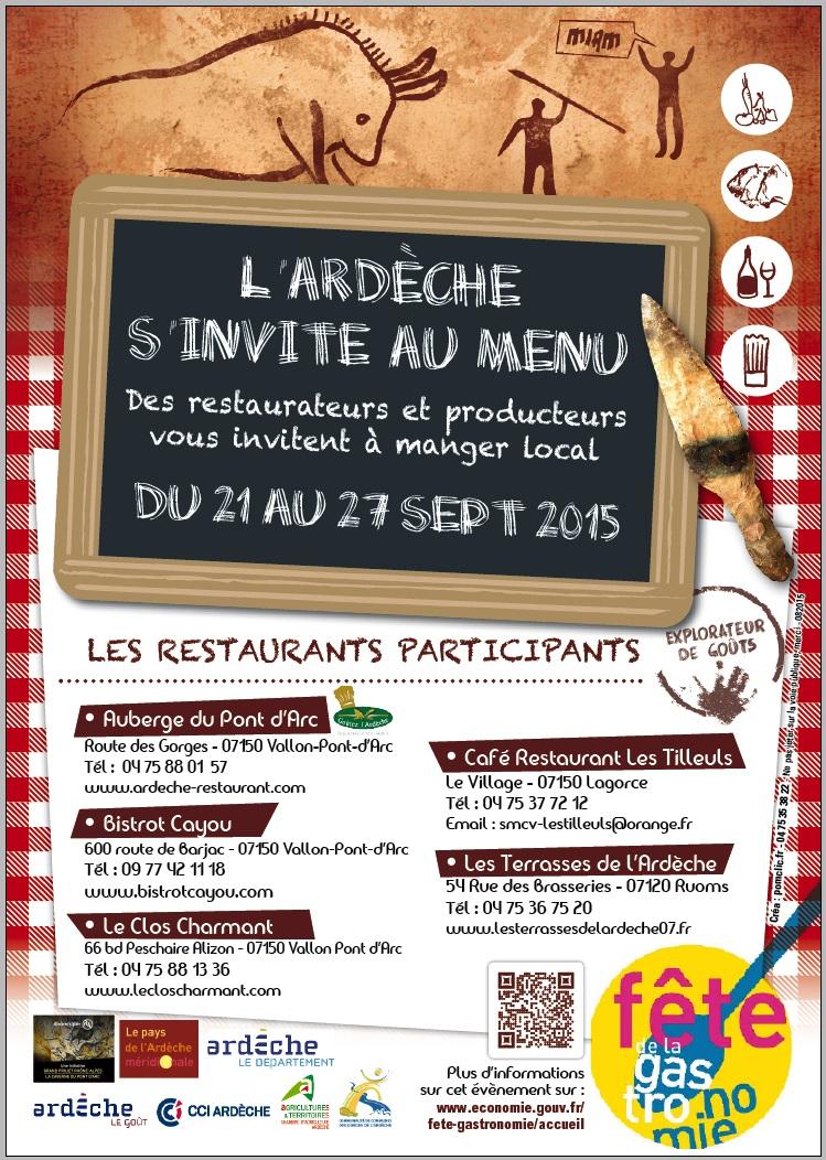 L'Ardèche s'invite au menu septembre